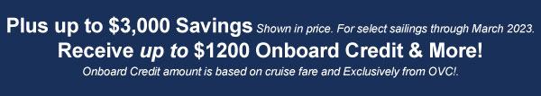 Fall Sale Onboard Credit