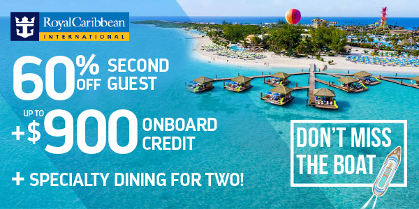 Don't Miss the Boat! Limited Inventory Royal Caribbean Cruises