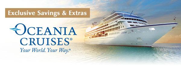 Special Fares & Free Airfare on Oceania Cruises