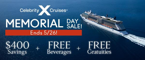 Celebrity Cruises - Memorial Day Sale