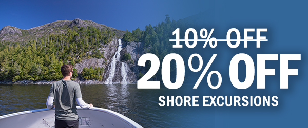 Get 20% Off Shore Excursions for a Limited Time Only!